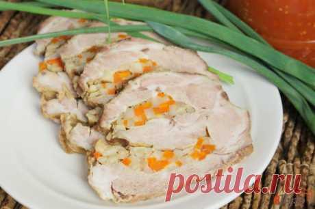 Ошеек с морковкой, чесноком и сельдереем 1 - рецепты с фото на vpuzo.com