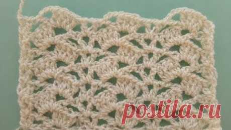 Крючок для начинающих. Урок 13: Красивый узор. Вязание крючком.