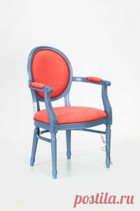 Кресло с круглой спинкой на ножках Луиз-2: ткань микровелюр, отделка тесьма