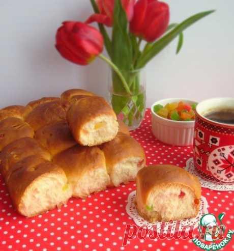 Булочки с цукатами – кулинарный рецепт