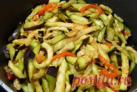 Острые баклажаны по-корейски на зиму - фото рецепт приготовления