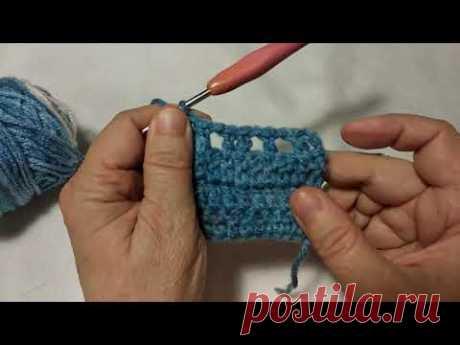 Уроки вязания крючком: столбики с накидом
