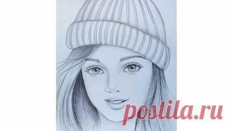 Как нарисовать лицо девушки карандашом поэтапно для начинающих. Человек. Урок. - Яндекс.Видео