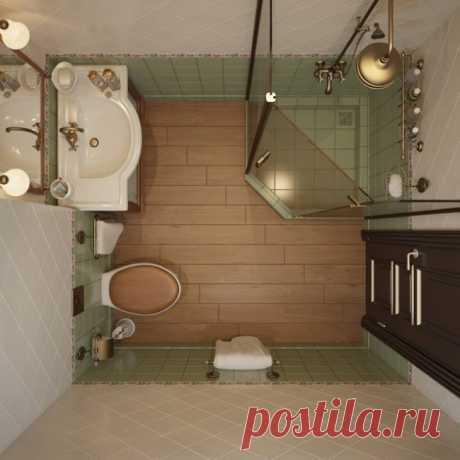 Отличные идеи для маленькой ванной комнаты | Мой дом
