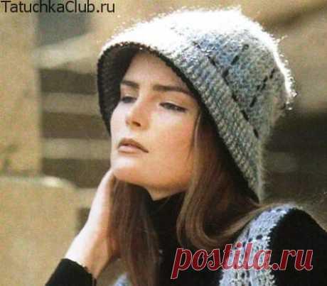 Теплая женская шляпка крючком — уютная и романтичная