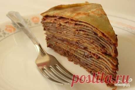 Блинный торт со сгущеным молоком - кулинарный рецепт с фото на Повар.ру