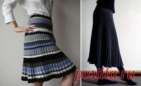 Две интересных японских юбки спицами