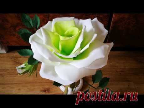 Вторая жизнь настольной лампы: роза светильник из фоамирана. Часть 1