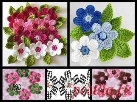 Красивые цветочки крючком (Вязаные цветы) – Журнал Вдохновение Рукодельницы