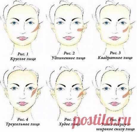 Советы макияжа к овалу лица