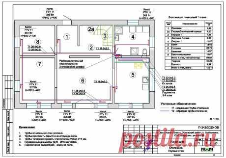 Проект отопления частного дома, пример 1421