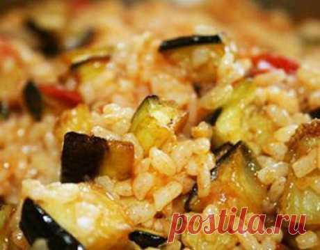 Плов с баклажанами - Вкусный дом - пошаговые рецепты с фото