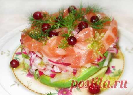 Салат коктейль из лосося и редиса - рецепт с фото пошагово Салат коктейль из лосося и редиса - пошаговый кулинарный рецепт приготовления с фото, шаг за шагом.