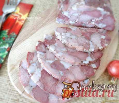 Ветчина рубленная Мраморная для праздничного стола фото рецепт приготовления