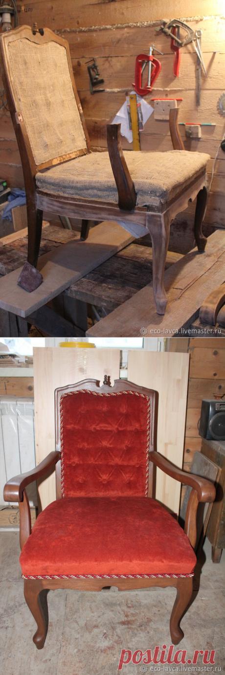 Вторая жизнь - восстанавливаем старое кресло
