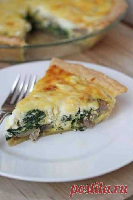 Как приготовить рыбный пирог со шпинатом - рецепт, ингредиенты и фотографии