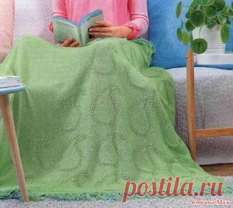 Плед и подушка теневым узором пейсли (схема) - Вязание - Страна Мам