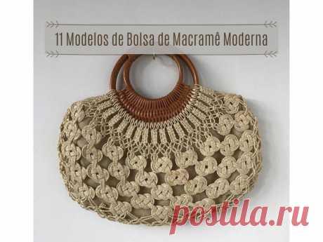 11 моделей современной сумки, макраме