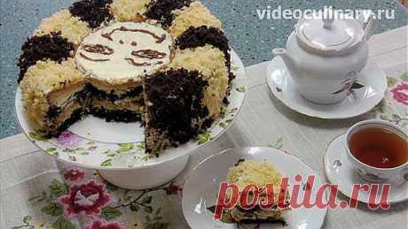 Торт махровый Солнышко - Видеокулинария.рф - видео-рецепты Бабушки Эммы