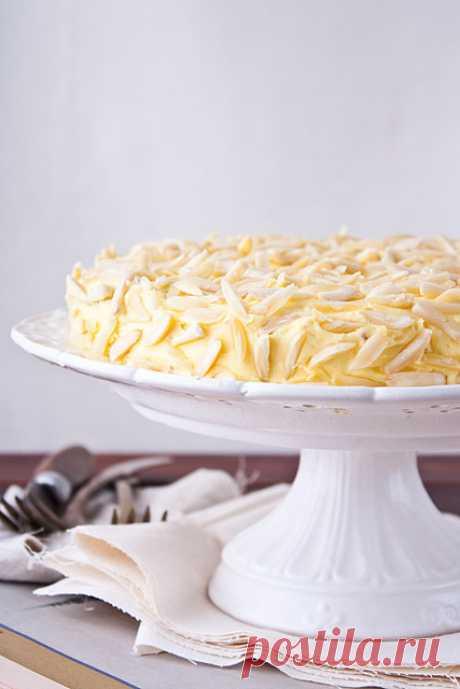 Миндальный торт. (Рецепт по клику на картинку).