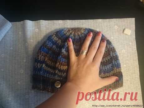 Шьем подклад для вязаной шапки без выкроек.