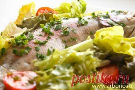 Рыба, припущенная в белом вине | Кулинарные заметки Алексея Онегина