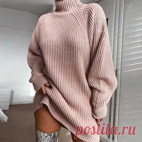 Женская одежда, осенний и зимний свитер с длинным рукавом реглан, платье с половинным воротником, свитер, Длинный свободный женский свитер|Водолазки| Детские жаккарды| реглан спицами | готовые выкройки |