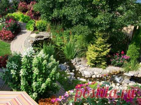 Садовый ландшафтный дизайн.