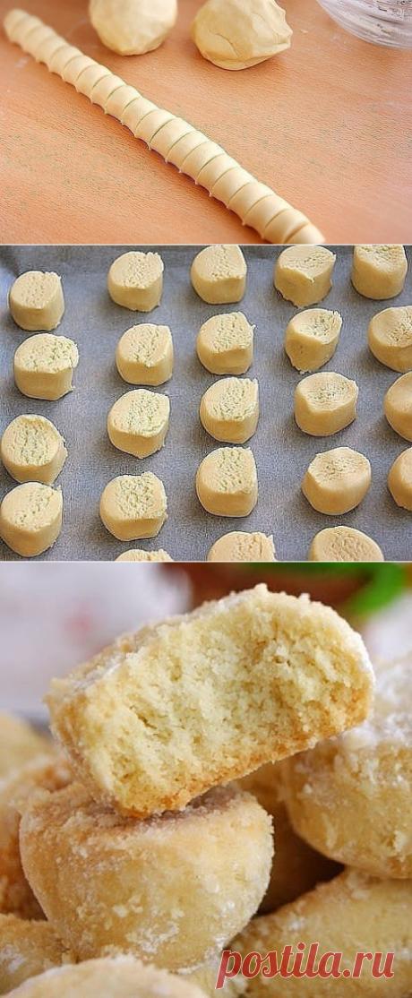 Как приготовить печенье тающий снег - рецепт, ингредиенты и фотографии