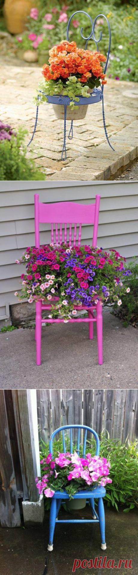 De las sillas viejas. Las ideas para la casa de campo.