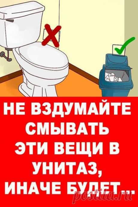 Не вздумайте смывать эти вещи в унитаз, иначе будет… — Женские Советы