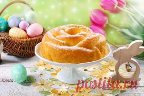 Пасхальный кекс в виде розы Что испечь этот апельсиновый кекс на Пасху, тебе понадобится специальная силиконовая форма в виде розы.