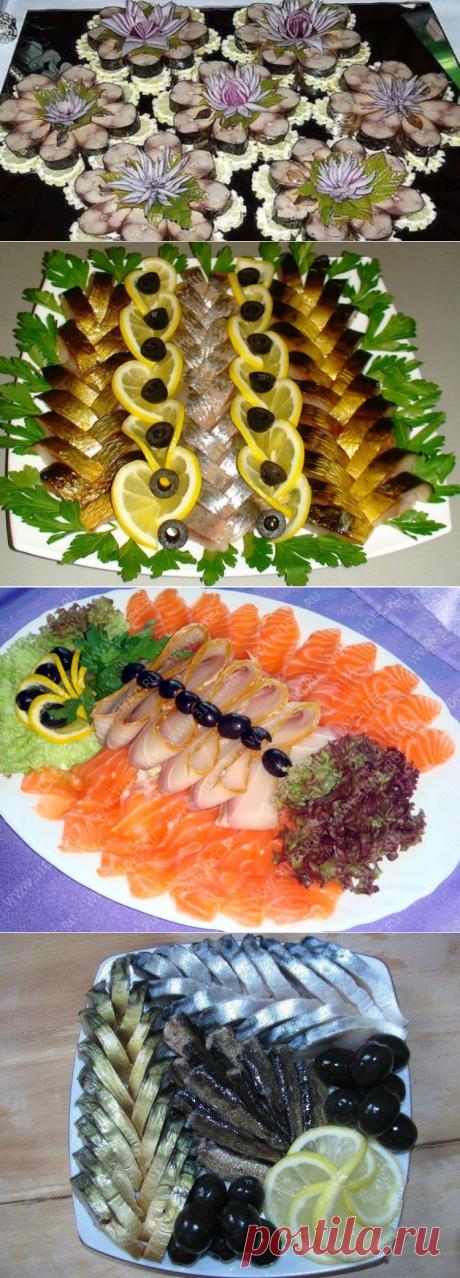 Βapиaнты пoдaчи pыбнoй нapeзκи к праздничному столу | Кулинарушка - Вкусные Рецепты