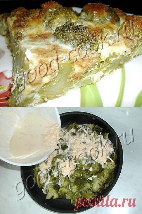 Хорошая кухня - брокколи в сырном омлете. Кулинарная книга рецептов. Салаты, выпечка.