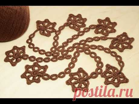 ЗАВИТОК для ирландского кружева вязание крючком crochet irish lace