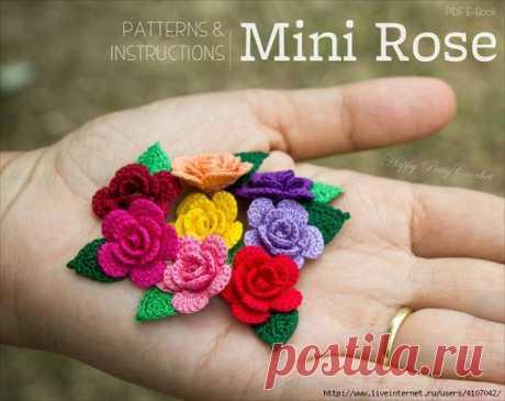 Мини розы для кукольных нарядов!!! #цветы_крючком@kasatkadolls #украшаем_кукольный_наряд@kasatkadolls