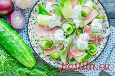 Салат с копченой горбушей и огурцами. Пошаговый рецепт с фото   Кушать нет