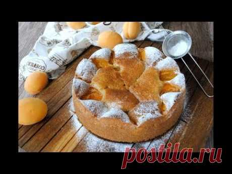 Домашний ПИРОГ С АБРИКОСАМИ Простой Вкусный Рецепт🔥 Абрикосовый Пирог к Чаю 🔥 - YouTube