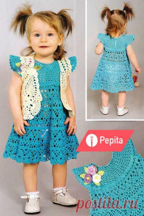 Болеро и платье для девочки по схеме вязания крючком - Портал рукоделия и моды