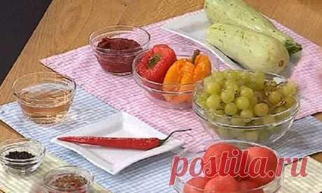 Лечо из кабачков и винограда — Кулинарная книга - рецепты с фото