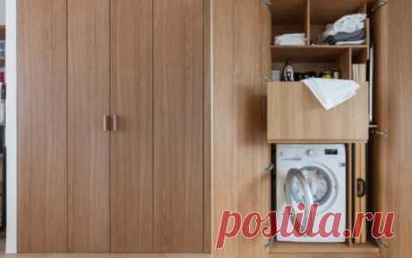 Как спрятать стиральную машину в интерьере | Роскошь и уют