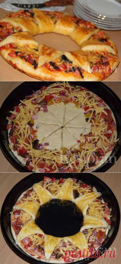 Пицца «Королевская» на дрожжевом тесте