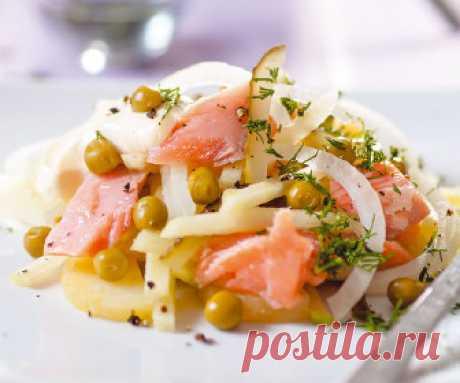 Салат с лососем и овощами   Рецепты, кулинария