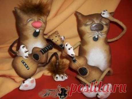 Шьем игрушку Кот с гитарой | Своими руками