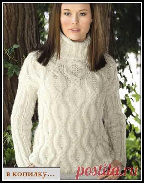 В КОПИЛКУ - узоры спицами : Узор спицами для свитера (1)
