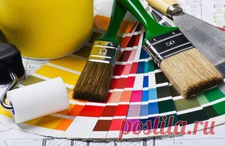 Какие краски совместимы друг с другом в ремонте