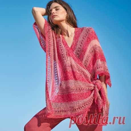 Платок-накидка - схема вязания спицами. Вяжем Накидки на Verena.ru