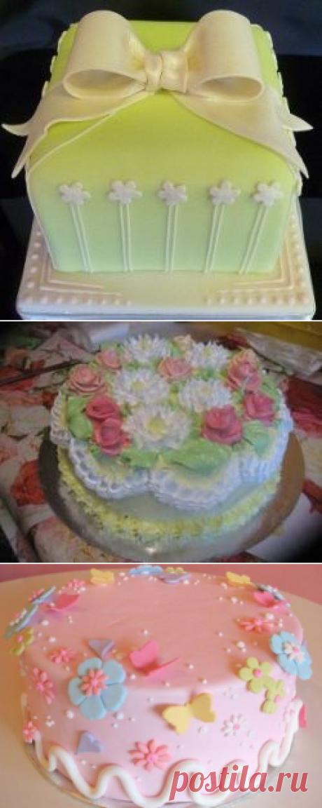 Украшение тортов в домашних условиях различными способами :: SYL.ru
