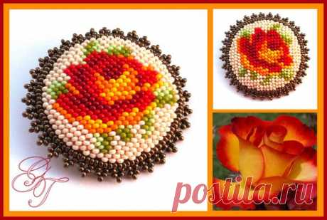 Esquemas para bordar broches con flores - DIY, ideas para la creatividad - Ideas de bricolaje
