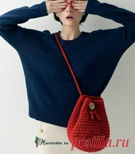 Сумочка «мешок» - схемы вязания крючком
